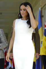 Meghan chose Australian designer Karen Gee for her first appearance.