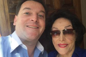 Considine with her nephew, Matthew Kiernan, Bushell Chair of Neurology University of Sydney, in 2017.