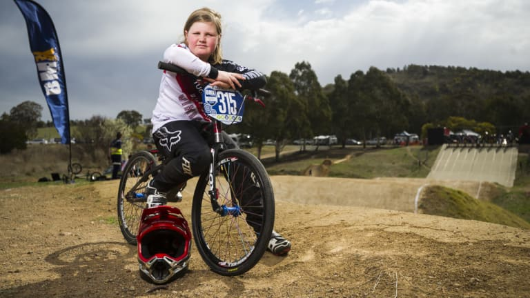 Canberra's Amelia Sitchbury has started her short BMX career with a bang.