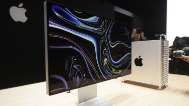 Apple's new Mac Pro with the new Pro Display XDR and stand.