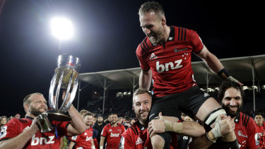 Kieran Read is farewelled by the Crusaders with yet another Super Rugby title.