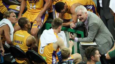 Passion abounds: Coach Andrew Gaze addresses the Kings as they go down to the wire in Perth.