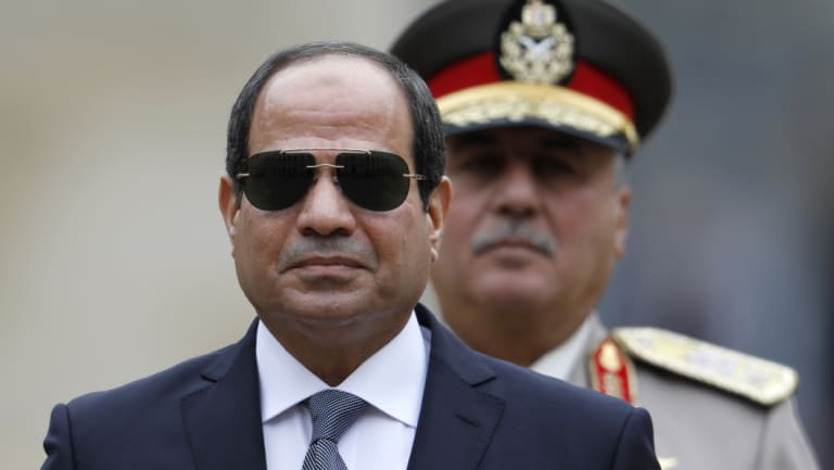 Egyptian President Abdel-Fattah el-Sissi pictured in 2017. The former defence minister  came to power in 2013.
