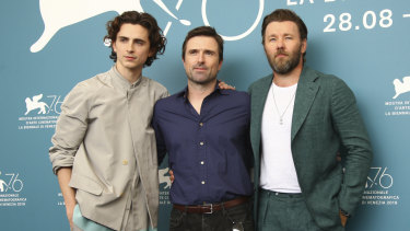 Chalamet, David Michod and Joel Edgerton at the Venice Film Festival last month.