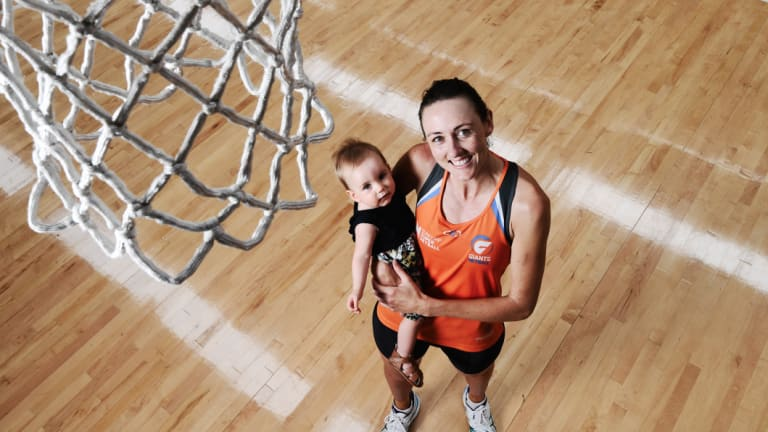 Beyond the court: Bec Bulley with her daughter Indie after returning from retirement in 2017.