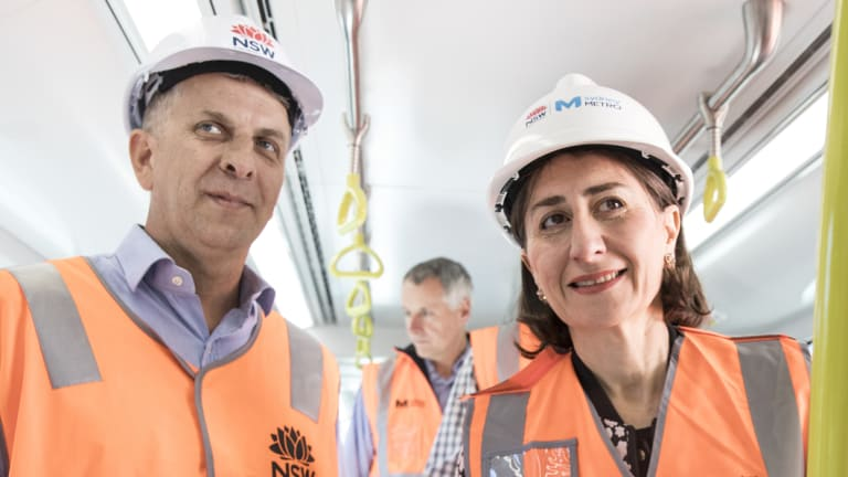 NSW Premier Gladys Berejiklian and the Transport and Infrastructure Minister Andrew Constance on the job.