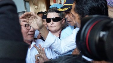 Renae Lawrence leaving Bangli Prison.