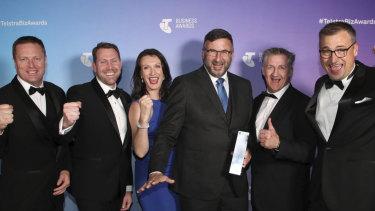 Penten's team at the Telstra Business Awards.