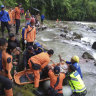 Death toll rises after bus plunges into ravine in Indonesia