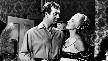 Dolores Moran and John Payne in Silver Lode.