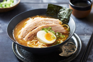 Slow-cooker pork belly ramen