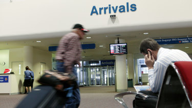 The infected man was refused entry to Perth after flying in from Brisbane.