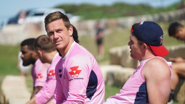 Dane Haylett-Petty ahead of the  Melbourne Rebels' qualifying final against the Queensland Reds in Brisbane.