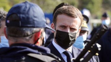 Ashamed of the violence: French President Emmanuel Macron.