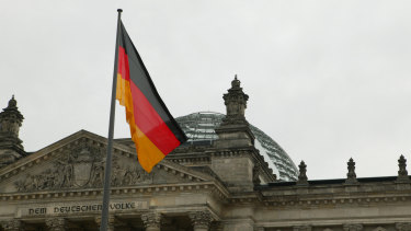 The Reichstag in Berlin.