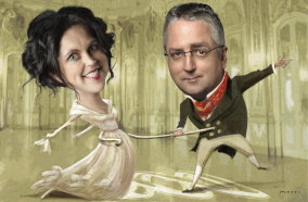 """No Pride & Prejudice"" Annabel Crabb and Mark Scott."