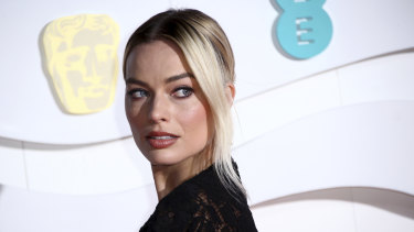 Margot Robbie at Monday's BAFTAs.