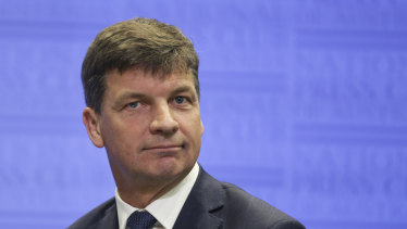 Energy and Emissions Reduction Minister Angus Taylor is pushing for carbon capture and storage projects to get money from renewable energy funds.