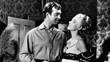 Dolores Moran and John Payne in Silver Lode.
