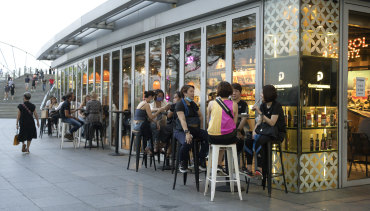 Singaporeans gather on the weekend before dining group limits were lowered to two people.