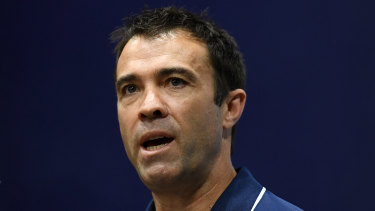 Geelong coach Chris Scott will come under more scrutiny if the Cats exit the finals in straight sets.