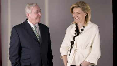 Catherine Brenner with mentor Ken Moss in 2008.