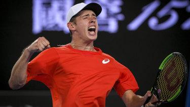 Intimidating: Alex de Minaur will have opponents worried, says John McEnroe.