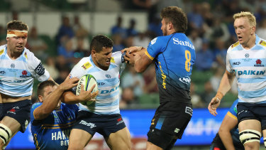 Izaia Perese was a stand-out in a beaten Waratahs side on Saturday night.