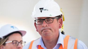 Premier Daniel Andrews and Transport Infrastructure Minister Jacinta Allan last week.
