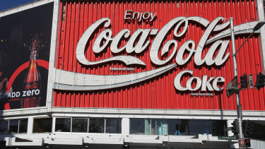 The iconic Coca Cola sign in Sydney's Kings Cross.
