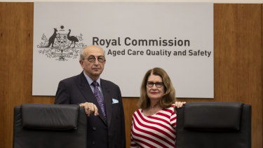 """Commissioners Tony Pagone QCandLynelle Briggs AO had a """"bob each way"""" on whether aged care should be a private or public system, say experts."""