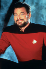 Frakes as Commander Will Riker in the series Star Trek: The Next Generation, which ran from 1987 to 1994.