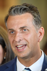 Transport Minister Andrew Constance says the government has not blown out any time frame on the Metro West project.