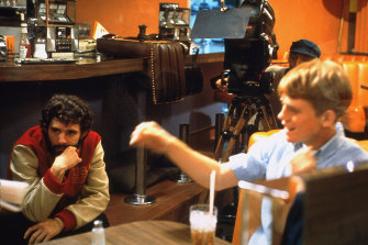George Lucas (at left) had a spontaneous approach to directing, confusing Ron Howard at times.