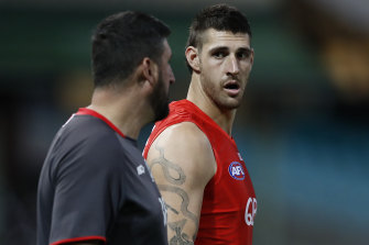 Scans confirm Swans ruckman Sam Naismith has ruptured his anterior cruciate ligament for the second time.