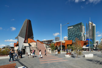 Yagan Square has mainly been a thoroughfare.
