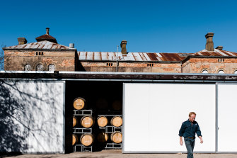 Mark Walpole at Fighting Gully Road in Beechworth, Victoria. The elevated region is a good spot for sangiovese.