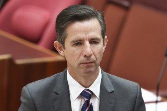 Minister for Finance Simon Birmingham.