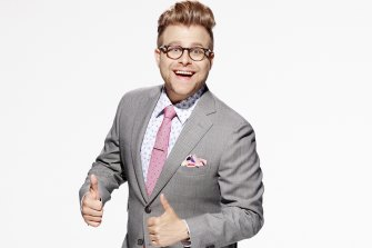 Adam Conover is a younger, better dressed Michael Moore in Adam Ruins Everything.
