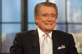 "Regis Philbin appears on his farewell episode of ""Live! with Regis and Kelly"", in New York in 2011."