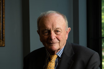 Harvey Norman founder and chairman Gerry Harvey.  The company has been under extensive pressure to repay its JobKeeper takings.