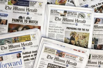 The publisher of the Miami Herald, The Kansas City Star and dozens of newspapers across the country is filing for bankruptcy protection.