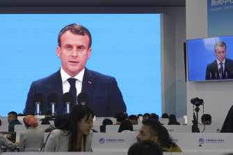 Emmanuel Macron said sovereignty must be protected in dealings with international technology companies.