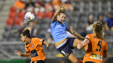 Precision strike: Sydney FC's Caitlin Foord has produced goals throughout the year after her move to be the club's centre forward.