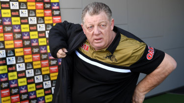 And then he was gone: Phil Gould and Ivan Cleary put an end to their official relationship with a hug on Wednesday.