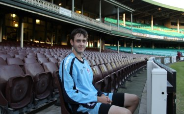 Ton of potential: Patterson burst on the scene as an 18-year-old in 2011 making a Shield century on debut for NSW.