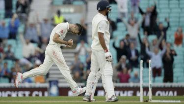 Anderson celebrates the moment.