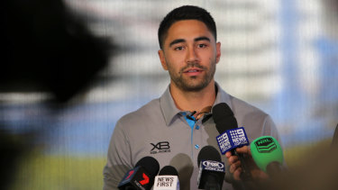 Swimming: High-profile Shark Shaun Johnson is adjusting to life at his new club.