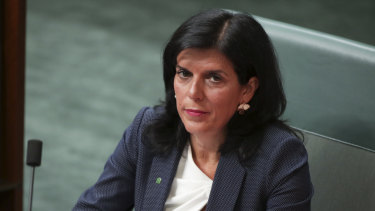 Liberal MP Julia Banks in Question Time this week.