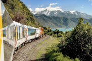 satnov16nz coastal pacific rail railway train new zealand nz ; text by Tim Richards ; SUPPLIED https://media.greatjourneysofnz.co.nz/Mountains and sea near OaroLicence: Royalty Free to use worldwide provided you abide by the Terms of Use, Brand Guidelines, Licence, Usage, and Expiry dates for each asset.Expiry: No expiry.** No credit specified